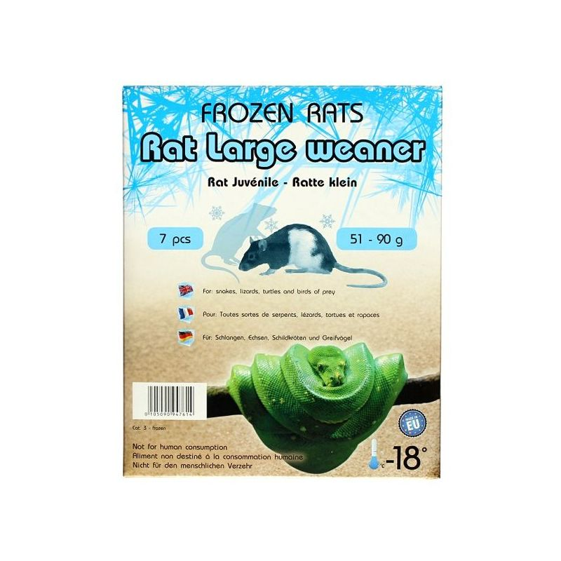 Rats congelées 51-90g Emballés par  7 pcs à 12,49€ sur Barf-Food-France