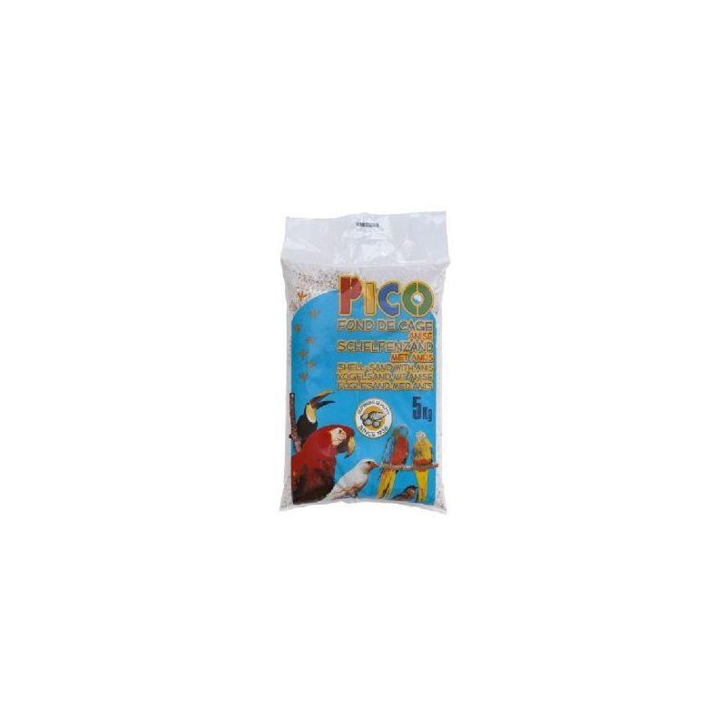 Gravier pico blanc anise+ecailles :  sac 5 kg à 2,08€ sur Barf-Food-France