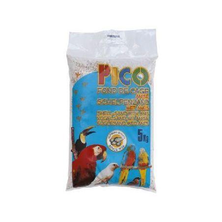 Gravier pico blanc anise+ecailles :  sac 5 kg