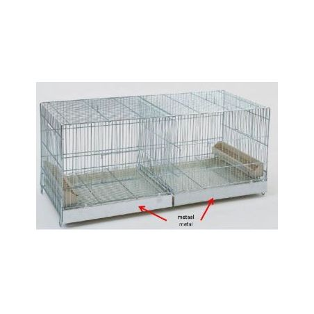 Cova 120x40x45 cage d'elevage metallique