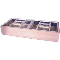 Cage de transport double en bois / 68*30*11 à 19,74 € sur Barf-Food-France
