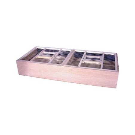 Cage de transport double en bois / 68*30*11