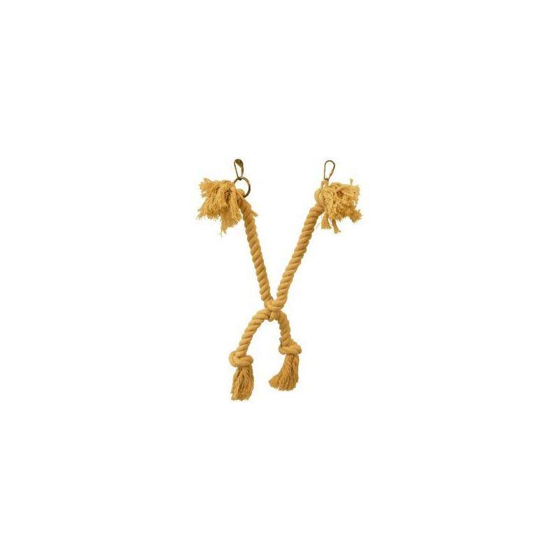 127106 double corde coton 40cm à 3,24€ sur Barf-Food-France