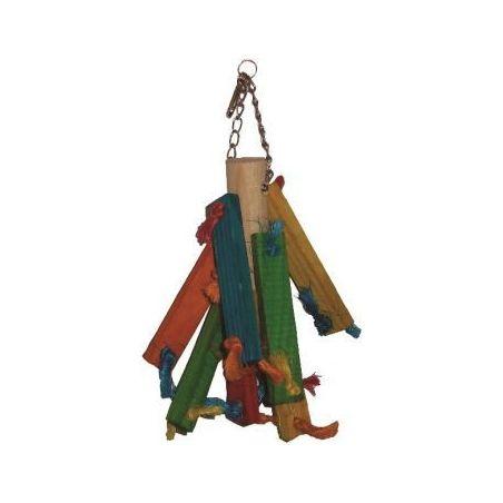 Bt2801 toy wood 1 pr perruche 21cm