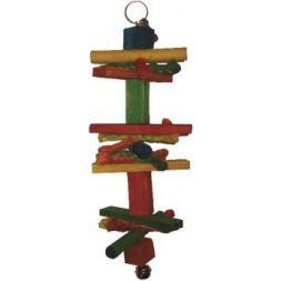 Bt2802 toy wood 2 pr perruche 26cm à 4,91€ sur Barf-Food-France
