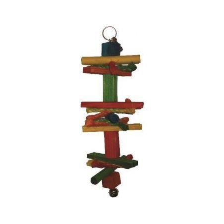Bt2802 toy wood 2 pr perruche 26cm