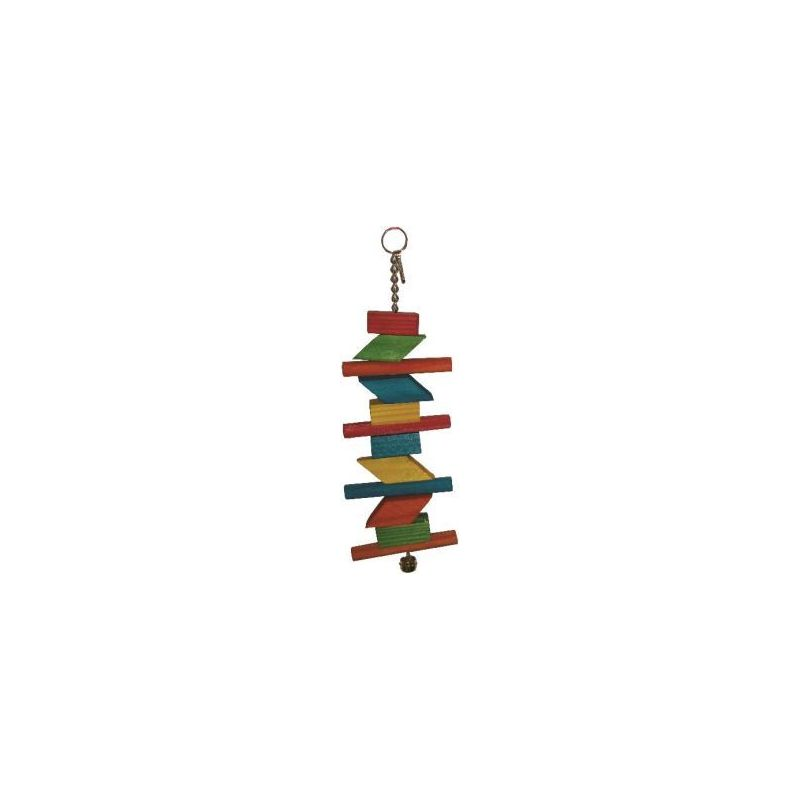 Bt2804 toy wood 4 pr perruche 29cm à 4,74 € sur Barf-Food-France