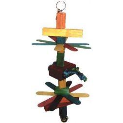 Bt2807 toy wood 7 pr perruche 33cm à 6,33€ sur Barf-Food-France