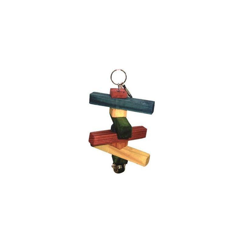 Bt003r petit jeu bois 14cm+ cloche à 2,83€ sur Barf-Food-France
