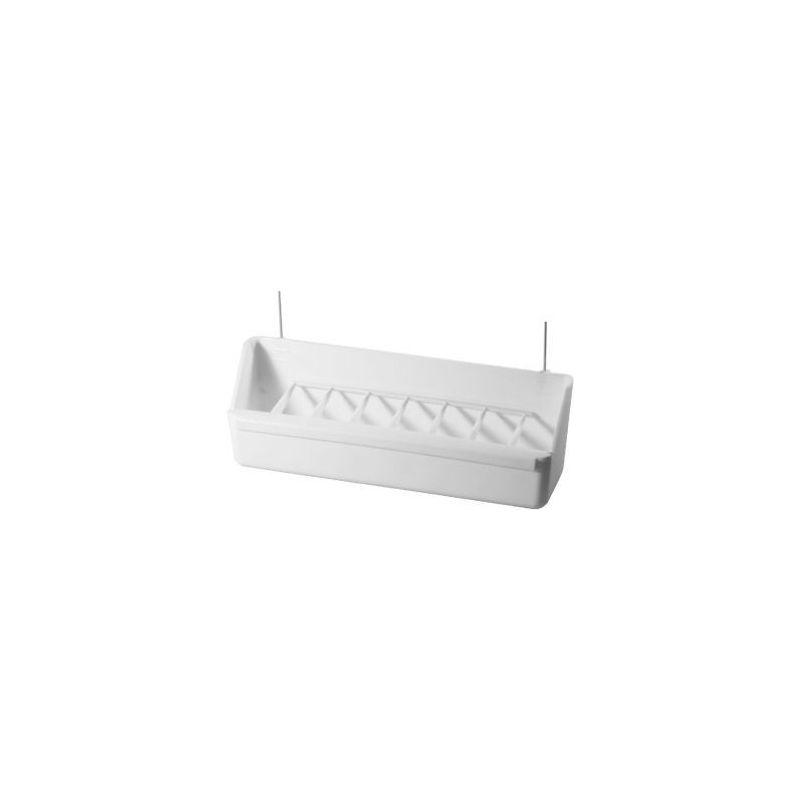 025 /mangeoire voliere +grille blanche /21cm :  blanc à 2,58€ sur Barf-Food-France