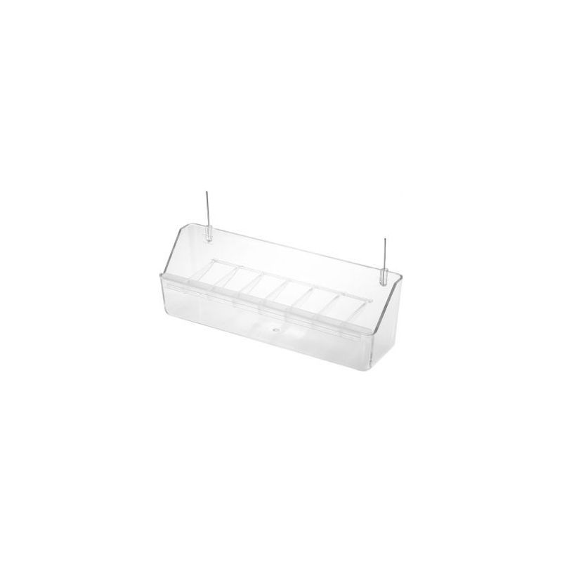 025 /mangeoire voliere+grille transpar /21cm :  tranparent à 2,58€ sur Barf-Food-France