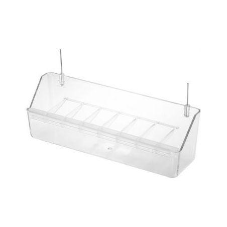 025 /mangeoire voliere+grille transpar /21cm :  tranparent