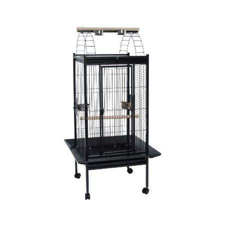 891-cage perroquet 75*75*156cm :  gris martelé