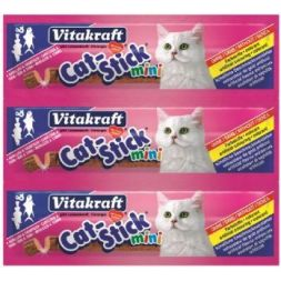 24003 cat stick mini cabillaud/thon 3pc 18g  à 1,74€ sur Barf-Food-France