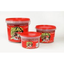 My koi rouge mix granules :  seau 2,5 litre à 7,49 € sur Barf-Food-France