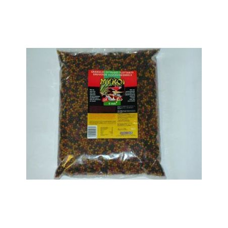 My koi 6mm mix granules noir/jaune/rouge :  sac 8 litre