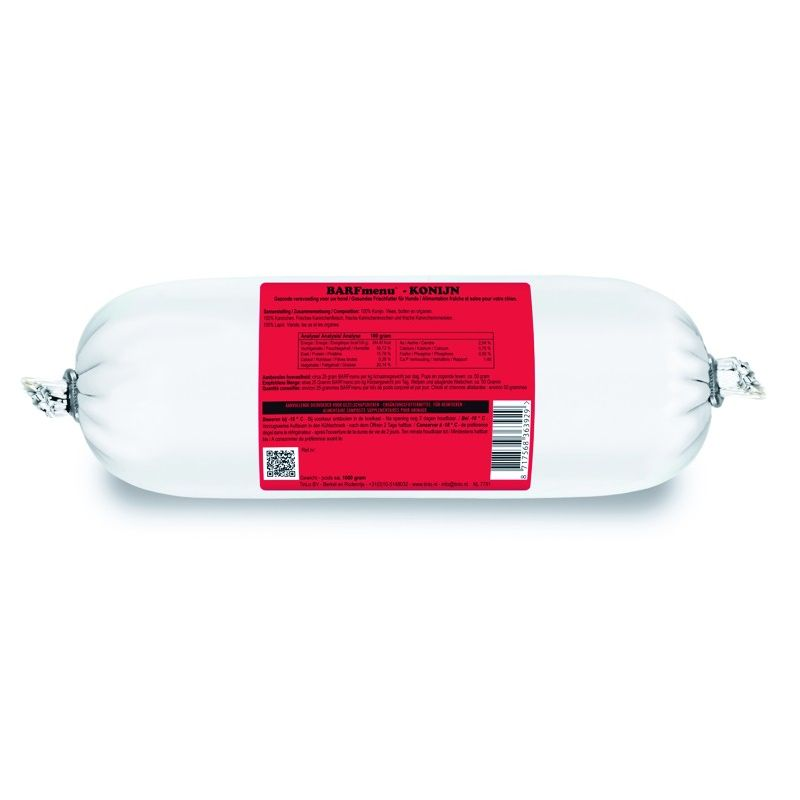 Barfmenu Lapin 10 X 1000g à 62,24€ sur Barf-Food-France