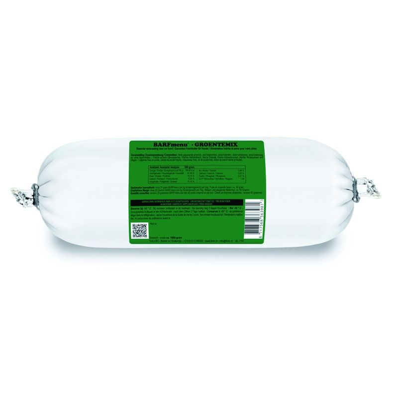 Barfmenu Mélange de légumes 1 X 1000g à 4,83€ sur Barf-Food-France