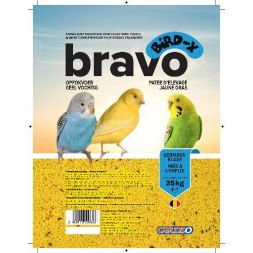 PATEE D'ELEVAGE BIRD-X BRAVO JAUNE SUPER GRAS sac 4,5 kg à 14,99€ sur Barf-Food-France