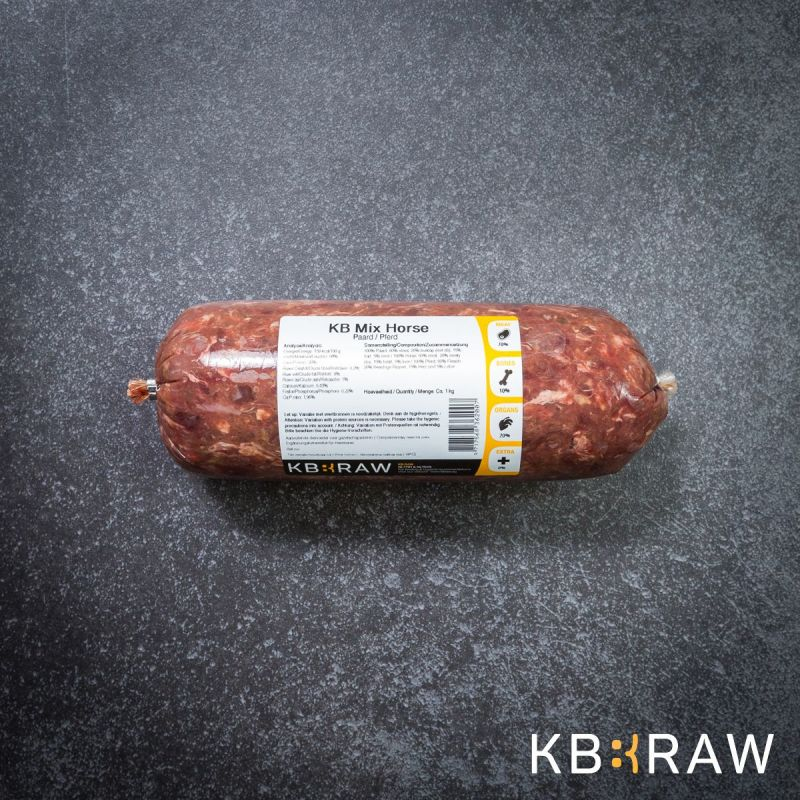 KB MIX- CHEVAL 20 X 500g à 80,91 € sur Barf-Food-France