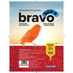 PATEE D'ELEVAGE BIRD-X BRAVO ROUGE SUPERGRASSE sac 25 kg à 89,08 € sur Barf-Food-France