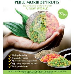 PERLE MORBIDE FRUIT ROUGE 4KG PERROQ.FRUGIVOR à 37,83 € sur Barf-Food-France