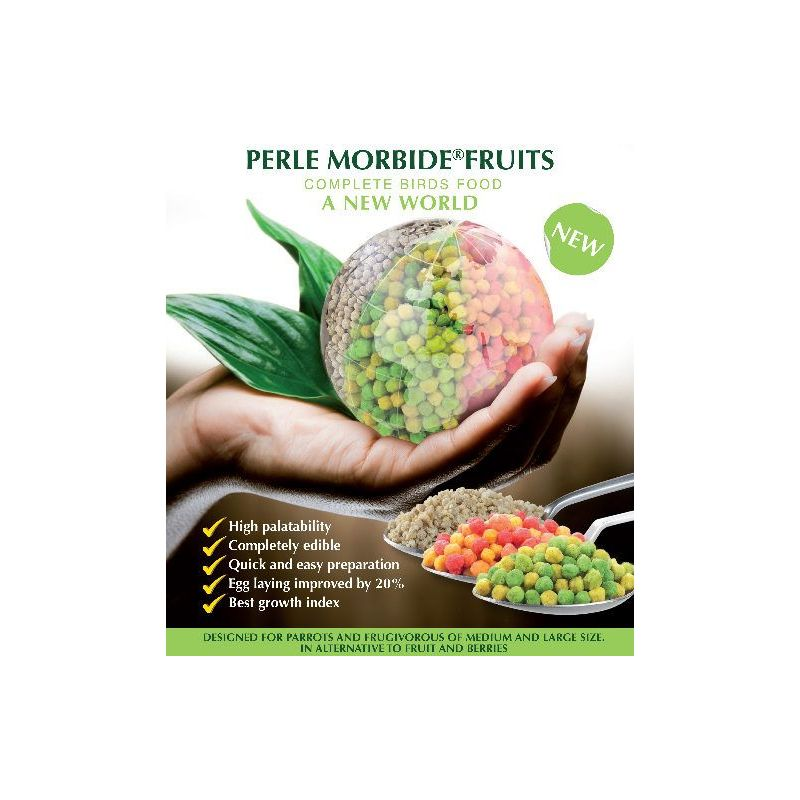 PERLE MORBIDE FRUIT VERT 4KG PERROQUET+FRUGIV à 37,83 € sur Barf-Food-France