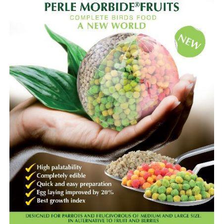 PERLE MORBIDE FRUIT VERT 4KG PERROQUET+FRUGIV
