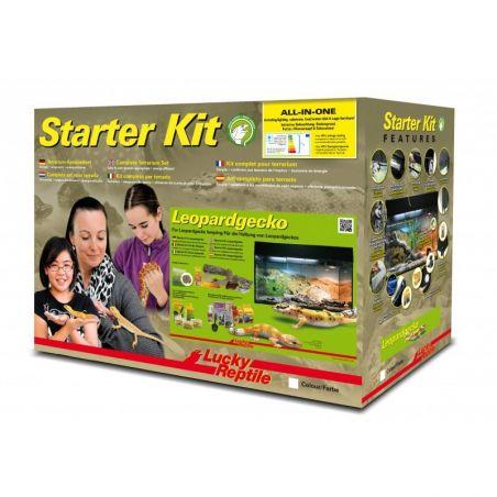 """Starter Kit 80 cm """"Gecko leopard"""" noir"""
