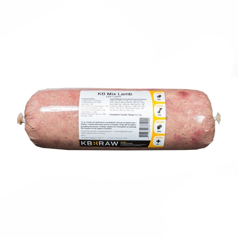 KB MIX- Agneau 500g à 2,91 € sur Barf-Food-France