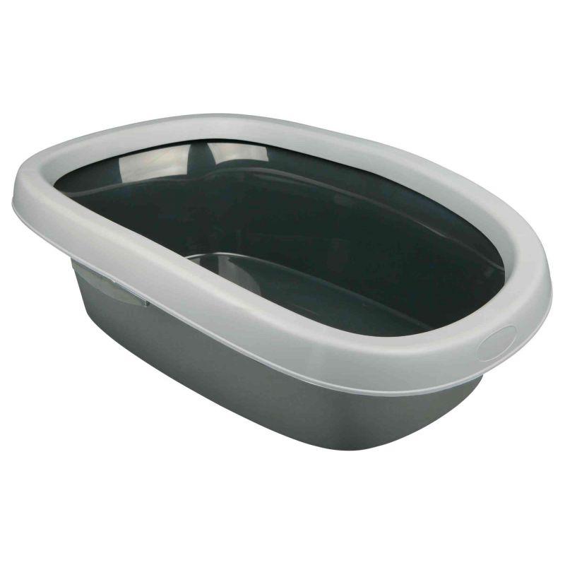Bac à litière Carlo, avec rebord:2: 38 × 17 × 58 cm, gris foncé/gris clair à 7,49€ sur Barf-Food-France