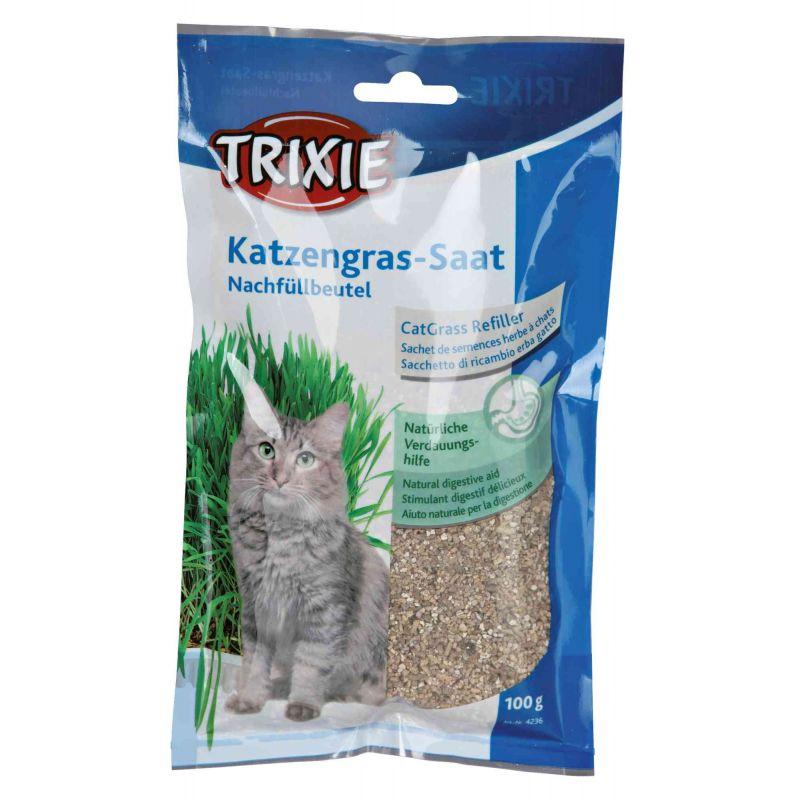Sachet de semences herbe à chats pour   4235 : 100 g à 1,35€ sur Barf-Food-France