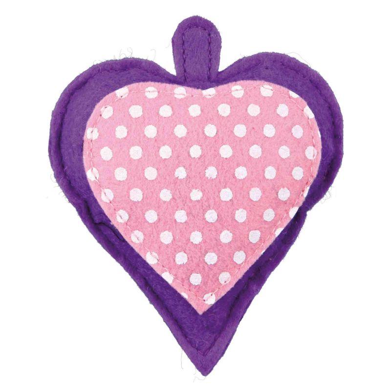 Coeur en feutre avec valériane : 11 cm à 3,33€ sur Barf-Food-France