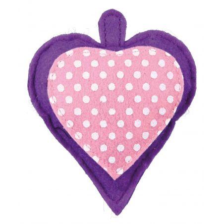 Coeur en feutre avec valériane : 11 cm