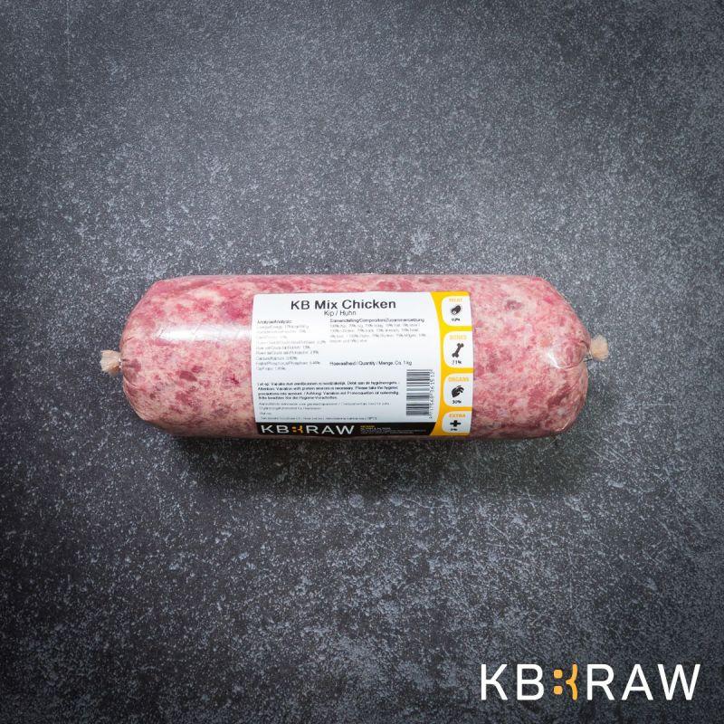 KB MIX- Poulet 1Kg à 3,24€ sur Barf-Food-France